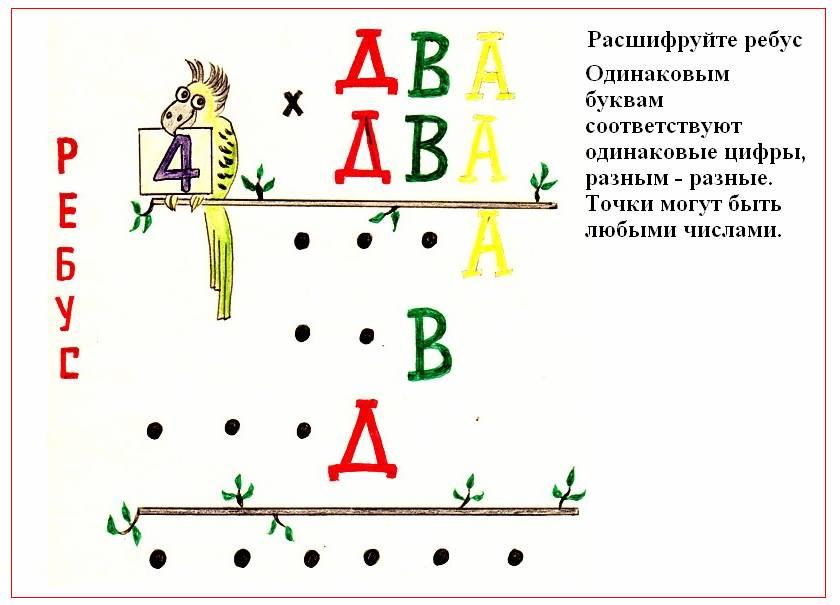 Логические ребусы с картинками и цифрами